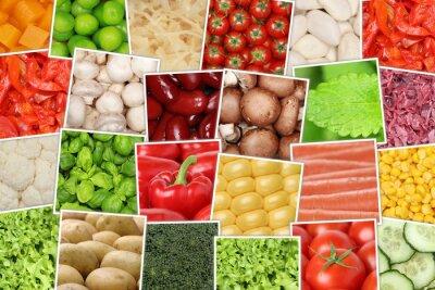 Fototapeta Wegańskie i wegetariańskie tła warzyw pomidory, papryka,