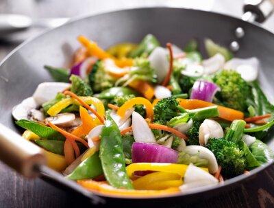Fototapeta wegetariańskie wok stir fry