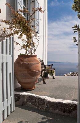 Fototapeta Wejście do domu z widokiem na morze