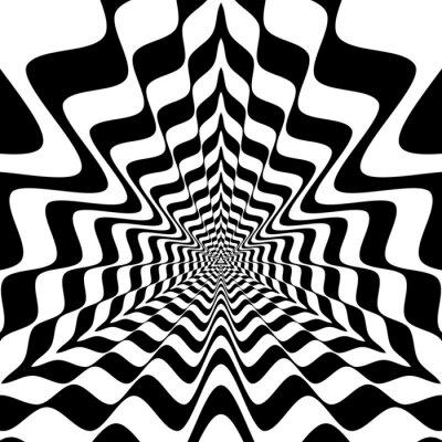Fototapeta Wejście do tunelu monochromatyczny trójkąta z krawędzi fali.