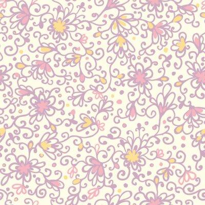 Fototapeta Wektor abstrakcyjna teksturę tła bez szwu kwiatowy wzór z