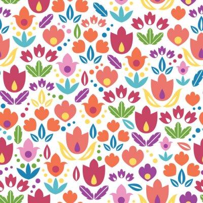 Fototapeta Wektor abstrakcyjna tulipanów bezszwowe tło wzór z