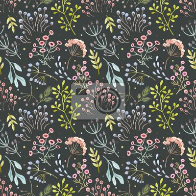 Fototapeta Wektor akwarela abstrakcyjny wzór kwiatowy