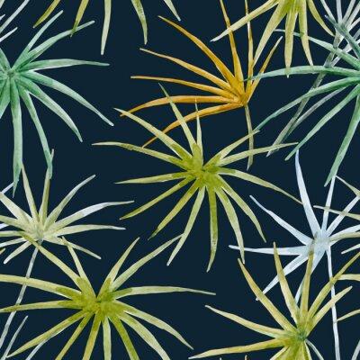 Fototapeta Wektor akwarela tropikalnych kwiatów wzorca