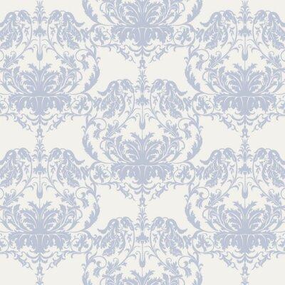 Fototapeta Wektor barokowy kwiatowy wzór adamaszku tła. Luksusowe klasyczny kwiatowy adamaszku ozdoby Royal Victorian vintage tekstury do tapet, tkanin, tkaniny