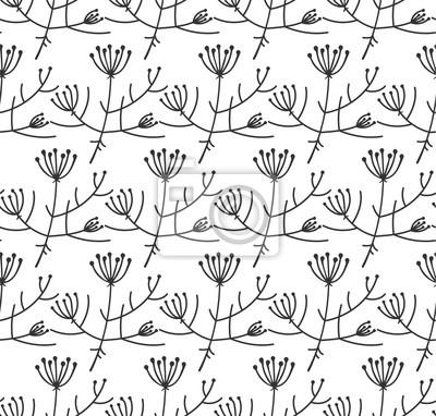 Wektor bez szwu deseń. Floral stylizowane tła. Ilustracji wektorowych.