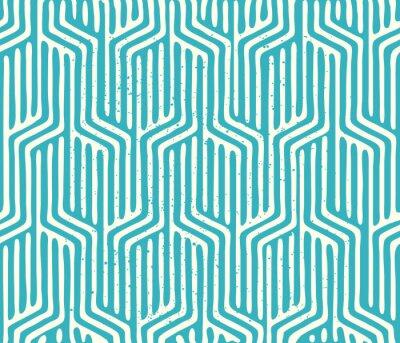 Fototapeta Wektor bez szwu geometryczny wzór. Powtarzanie geometryczny wzór tekstury. ilustracji wektorowych.