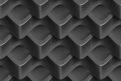 Fototapeta Wektor bezszwowych abstrakcyjne geometryczne 3d fale deseń