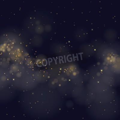 Fototapeta Wektor błyszczące gwiazd na tle bokeh