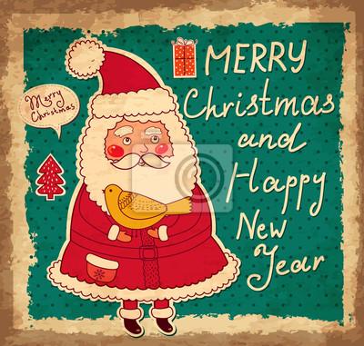 Fototapeta Wektor Boże Narodzenie i Nowy Rok kartkę