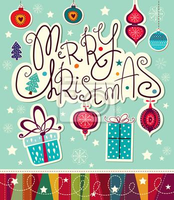 Fototapeta Wektor Christmas card