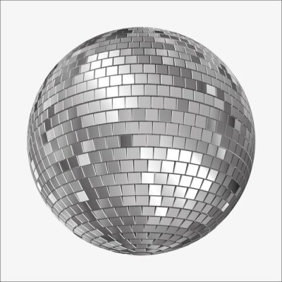 Fototapeta Wektor Disco Mirrorball, Mirror Ball, Spiegelkugel