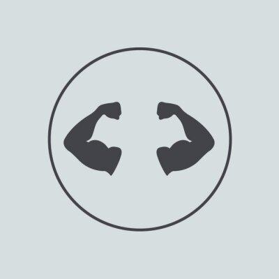 Fototapeta Wektor ikona koło na szarym tle. Eps 10