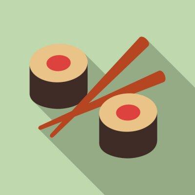 Fototapeta Wektor ilustracja sushi