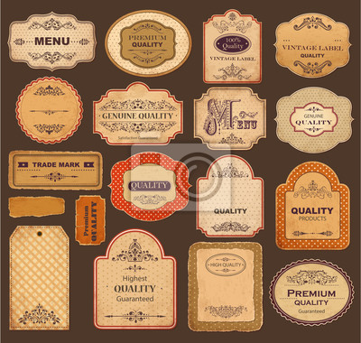 Wektor kolekcji: Vintage i retro labels