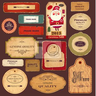Fototapeta Wektor kolekcji: Vintage i retro labels