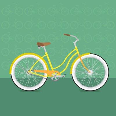 Fototapeta wektor kolorowe rowery różnych typów
