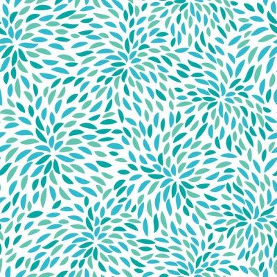 Fototapeta Wektor kwiatowy wzór. Jednolite kwiatowy wzór.