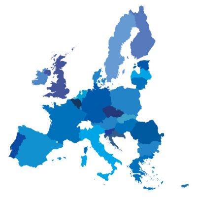 Fototapeta wektor mape europejskich granic unijnych