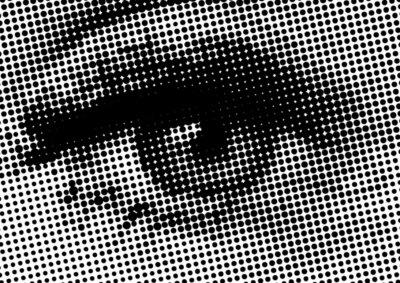 Fototapeta wektor oka kształt półtonów dla tła i projektowania