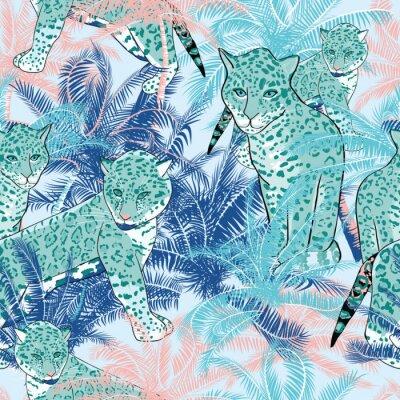 Fototapeta Wektor Piękne egzotycznych tropikalnych letnich deseń z palmy