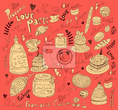 Fototapeta Wektor ręcznie narysowanego menu
