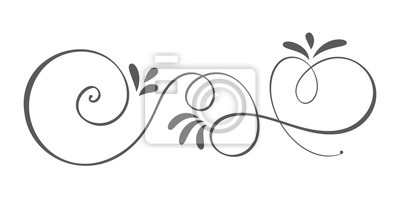 Fototapeta Wektor ręcznie rysowane elementy projektu kaligraficzna wiosna rozkwitać. Kwiatowy wystrój w stylu lekkim na www, wesele i druk. Samodzielnie na białym tle Ilustracja kaligrafii i liternictwa