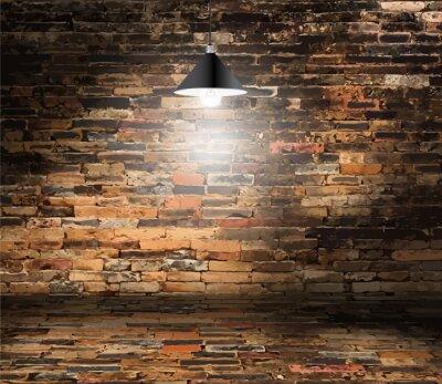 Fototapeta Wektor ściana cegła pokój