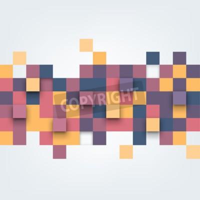 Fototapeta Wektor tła. Ilustracja abstrakcyjne tekstury z kwadratów. wzornictwo na banner, plakat, ulotki.