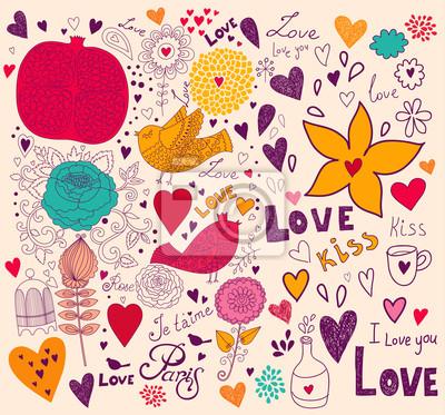 Wektor Valentine życzeniami