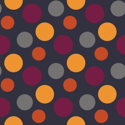 Fototapeta Wektor wzór z polka żółty, szary, fioletowy kropek