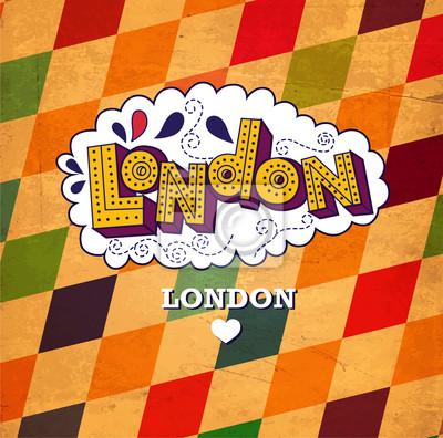 Wektor zabytkowe karty londyn