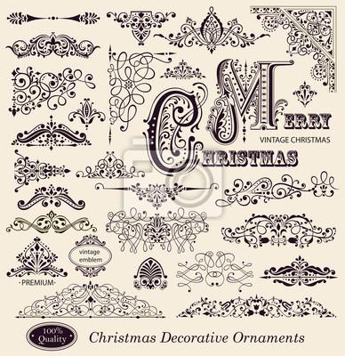 Fototapeta Wektor zestaw Christmas ozdoby i elementy projektu