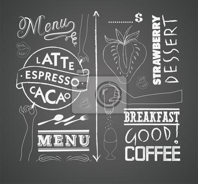 Wektor zestaw elementów projektu do menu na tablicy