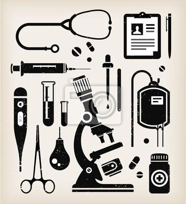 Wektor zestaw ikon medycznych