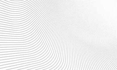 Fototapeta Wektorowa ilustracja wzór szare linie na białym tle. EPS10.