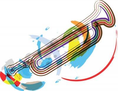 Fototapeta wektorowe ilustracje instrument muzyczny
