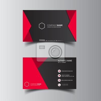 Fototapeta Wektorowego projekta formalna czerwona nowożytna wizytówka
