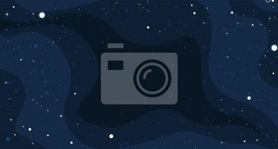 Fototapeta Wektorowy płaski przestrzeni projekta tło z małymi elementami