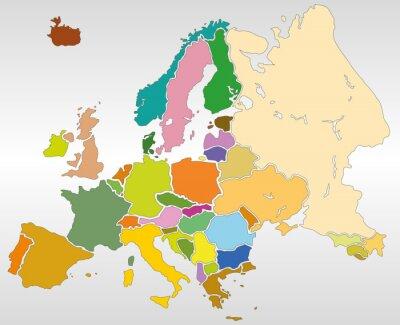 Fototapeta Weltkarte Landkarte Europa Karte 3