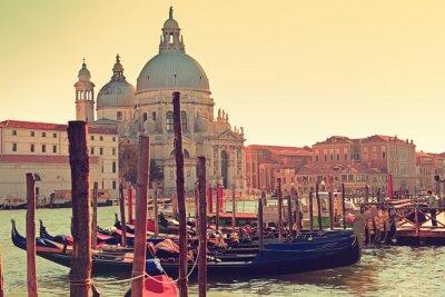 Fototapeta Wenecja Canal Grande Gondola i Salute