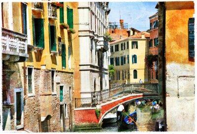 Fototapeta Weneckie kanały. Artystyczny obraz