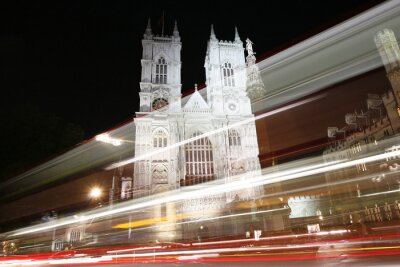 Fototapeta Westminster Abbey w nocy