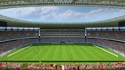 Fototapeta wewnątrz stadionu piłkarskiego renderowania 3D