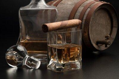 Fototapeta Whisky & Sigaro