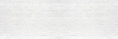 Fototapeta white brick wall may used as background