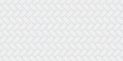 Fototapeta White ceramic tiles texture abstract background vector illustration