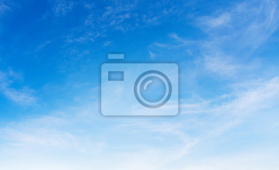 white cloud on blue sky background with sunshine
