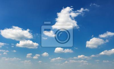 white cloud on blue sky in morning light background