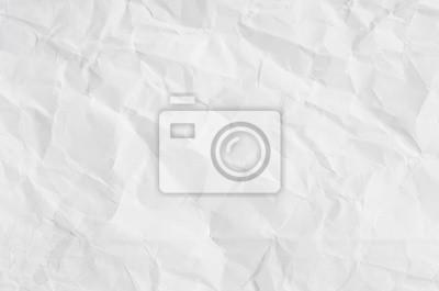 Fototapeta white crumpled paper texture background.